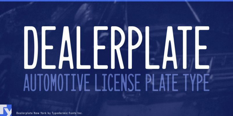 Dealerplate Font