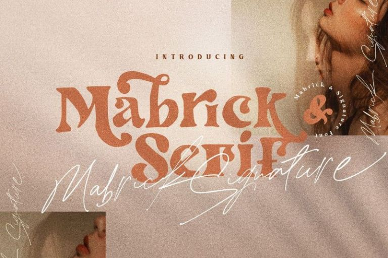 Mabrick Playful Font Duo
