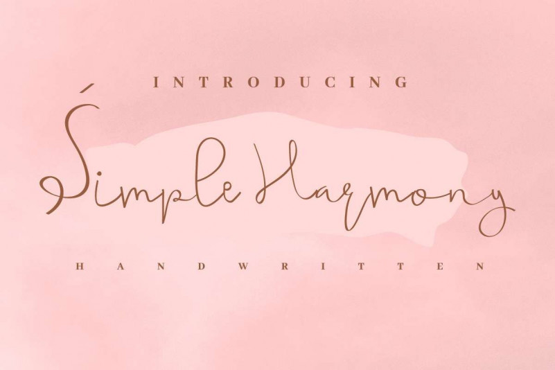 Simple Harmony Font