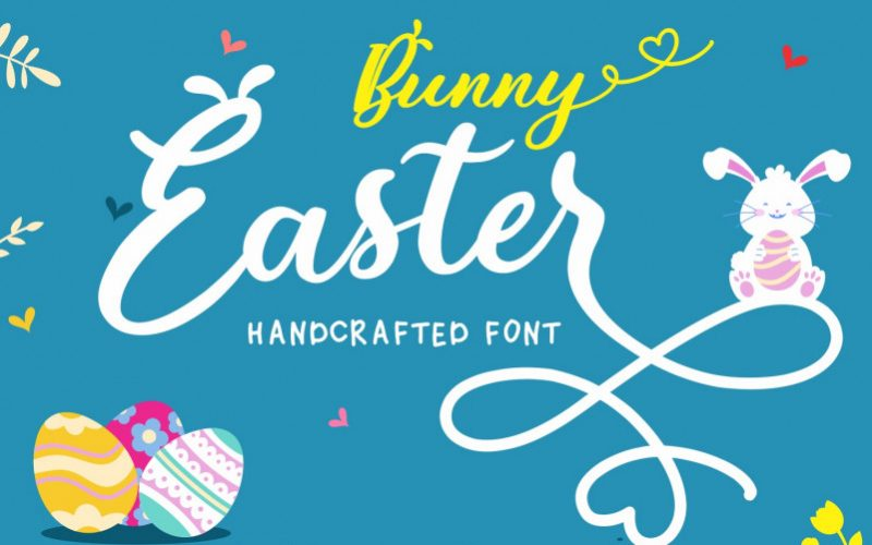 Bunny Easter Calligraphy Font