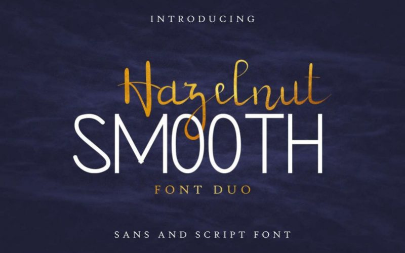 Hazelnut Smooth Handwritten Font